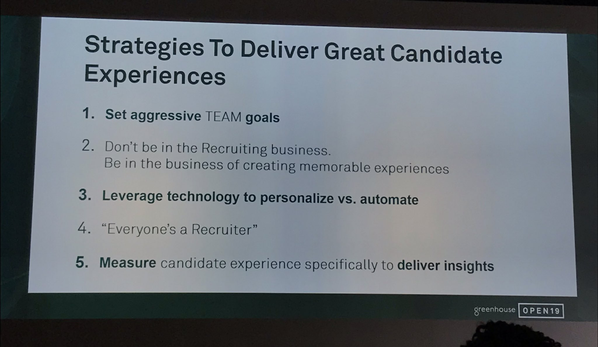 Great Candidate Experience